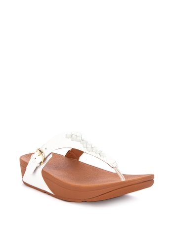 Shop Fitflop The Skinny Toe-thong Sandals Crystal Online on ZALORA ...