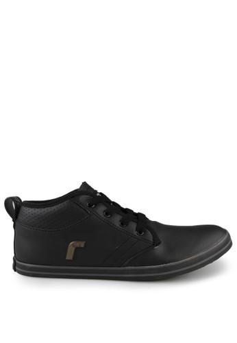 Rhumell black Freed PU Sneaker Shoes RH743SH61WLAID_1