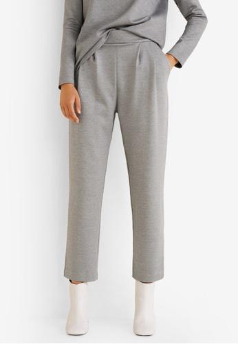 Mango grey Pleat Detal Modal Trousers D8794AA123518BGS_1