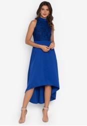 D Fashion Engineer blue Melai Halter Hi-Low Lace Dress D4772AA581F6A2GS_1