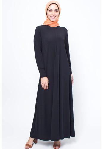 JV Hasanah black Najma Breastfeeding Dress JV519AA22VWZID_1