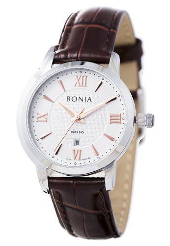 Bonia silver and brown Bonia Rosso - BR166-2313 - Jam Tangan Wanita - Silver Brown 8F180ACD765DBCGS_1