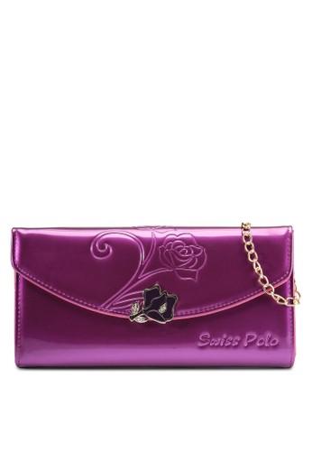 浮雕玫瑰長夾包, 包, esprit 鞋包