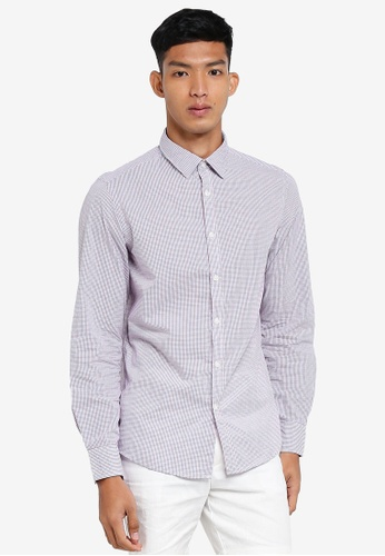 OVS white Casual Checkered Shirt 46978AAC7934DCGS_1