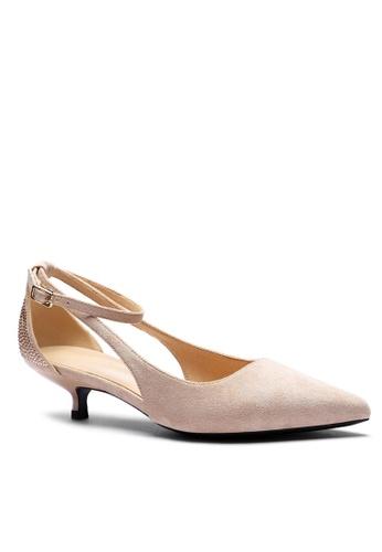 Twenty Eight Shoes Suede Fabric Strap Mid Heel 395-6 D995ESH997AF5EGS_1