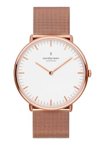 Nordgreen gold Nordgreen Native Rose Gold 36 mm - Rose Gold Mesh Watch 39B77AC3083E56GS_1