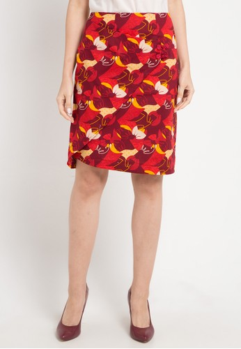 Batik Solo red and multi Regular Skirt 9A601AA3314B72GS_1