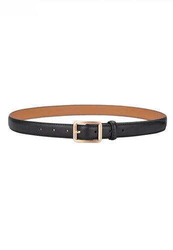 Twenty Eight Shoes black Metal Pin Buckle Leather Belt JW CY-101 29E0BAC59ECB7FGS_1