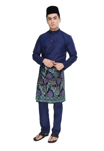 Amar Amran navy Baju Melayu Raja Sehari 9E59DAA813EF6FGS_1