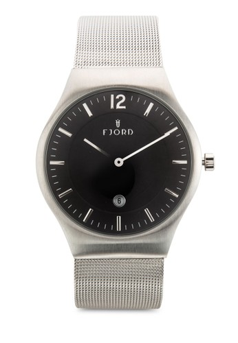 OLLE 雙指針金屬網眼圓錶, 錶類, 飾品esprit分店地址配件