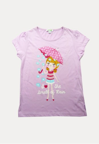 Bossini purple Bossini Kids Girl T-Shirt Lt Lilac (84080618037) DCF80KA2A8074BGS_1