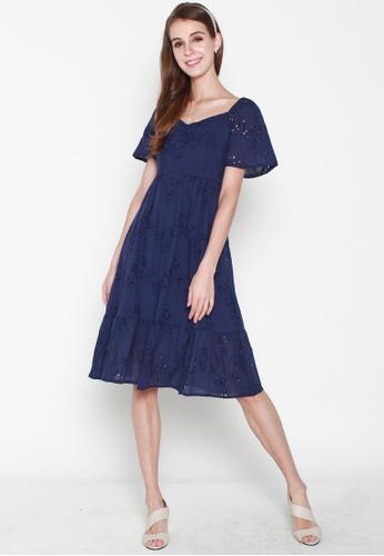 JOVET blue Rose Embroidery Dress C1EA3AA3FA883EGS_1