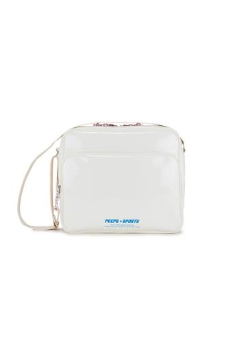 Peeps white and multi and beige Retro 90 Enamel Crossbody Bag EA077AC0E5B0FAGS_1