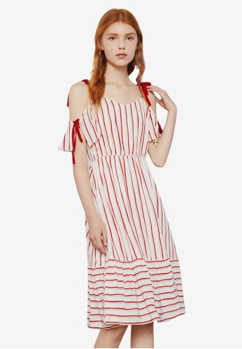 cd43ba1df3b Shop Hopeshow Off Shoulder Spaghetti Striped Dress Online on ZALORA  Philippines