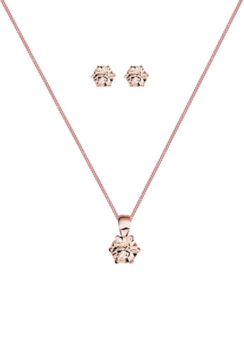 ELLI GERMANY gold Jewelry Set Rose Gold Plated Classic Crystals C7DC9ACDC2C5ABGS_1