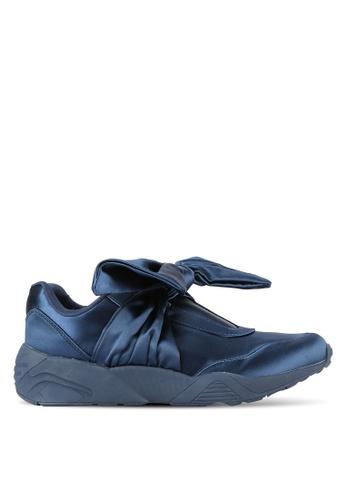 Something Borrowed navy Bow Satin Sneakers 6301ESH80EA064GS_1