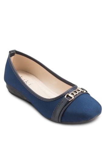 鏈飾方頭平esprit 台中底鞋, 女鞋, 芭蕾平底鞋