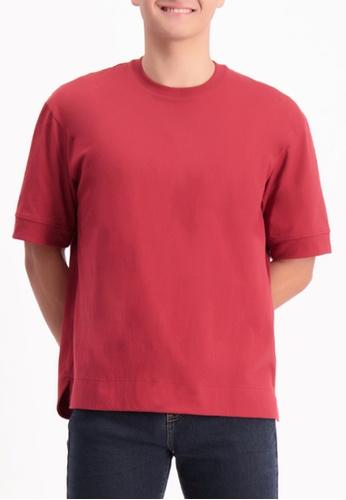 BENCH red Boxy Tee 805D0AA3E01EB4GS_1