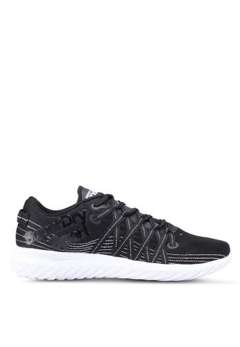 Superdry black Laserlite Runner Shoes 98F9ASH83B4F94GS_1