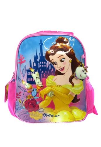 DISNEY Princess pink Disney Princess Belle BATB Reversible Kids Backpack 32E6CKC33B9D1BGS_1