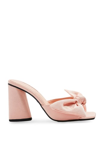 TOPSHOP pink Saucy Pink Bow Mules 0D962SHD92F2C1GS_1