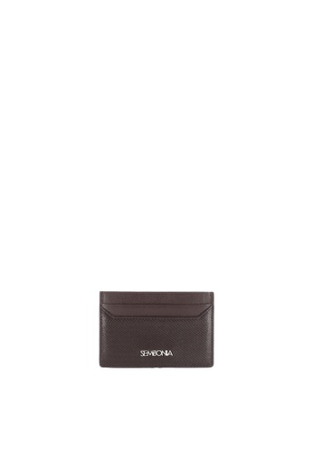 SEMBONIA brown SEMBONIA Genuine Leather Authentic Card Holder 0D185AC8857386GS_1