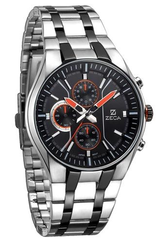 ZECA orange and silver Zeca Watches Men Fashion Stainless Steel Analog - 234M Silver Orange ZE260AC08SJZSG_1