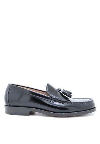 HARUTA black Tassel loafer-MEN-907 3E80ASH6882B80GS_1