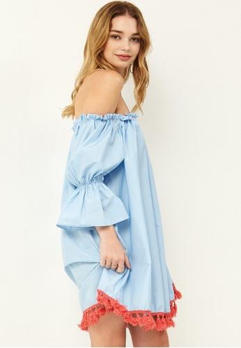 Storets blue Michelle Tassel Dress ST450AA0GIHMSG_1