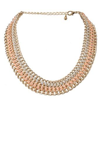 埃及風寶石飾金屬項鍊,esprit mongkok 飾品配件, 項鍊