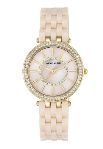 Anne Klein Pink Women S Ak 2620lpgb Diamond Dial Rose Gold Tone And