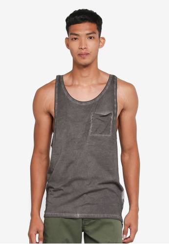 Only & Sons grey Sawyer Sleeveless Top 7CE76AA3F449CBGS_1