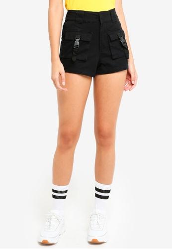 Factorie black Multi Pocket Shorts 1A7FEAA0E5AEAEGS_1