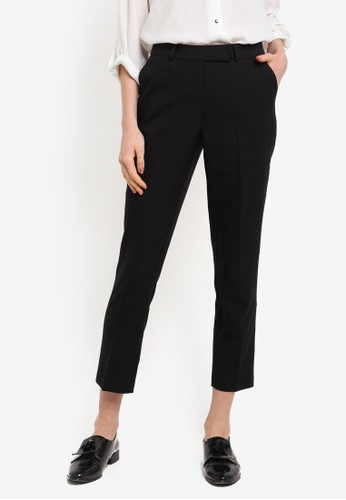 Dorothy Perkins black Short Black Slim Leg Trousers 7607CAA3840C0AGS_1