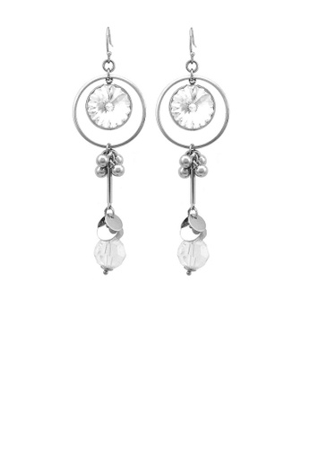 Glamorousky silver Graceful Round Earrings with Silver Austrian Element Crystal 65099AC980A8A5GS_1