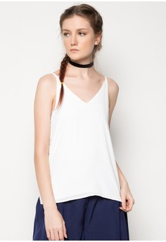 Woven Tank Top with Side Slits