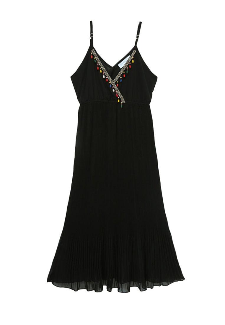 Boho Neck Tokichoi Cami Deep Dress Black V w64qUw0