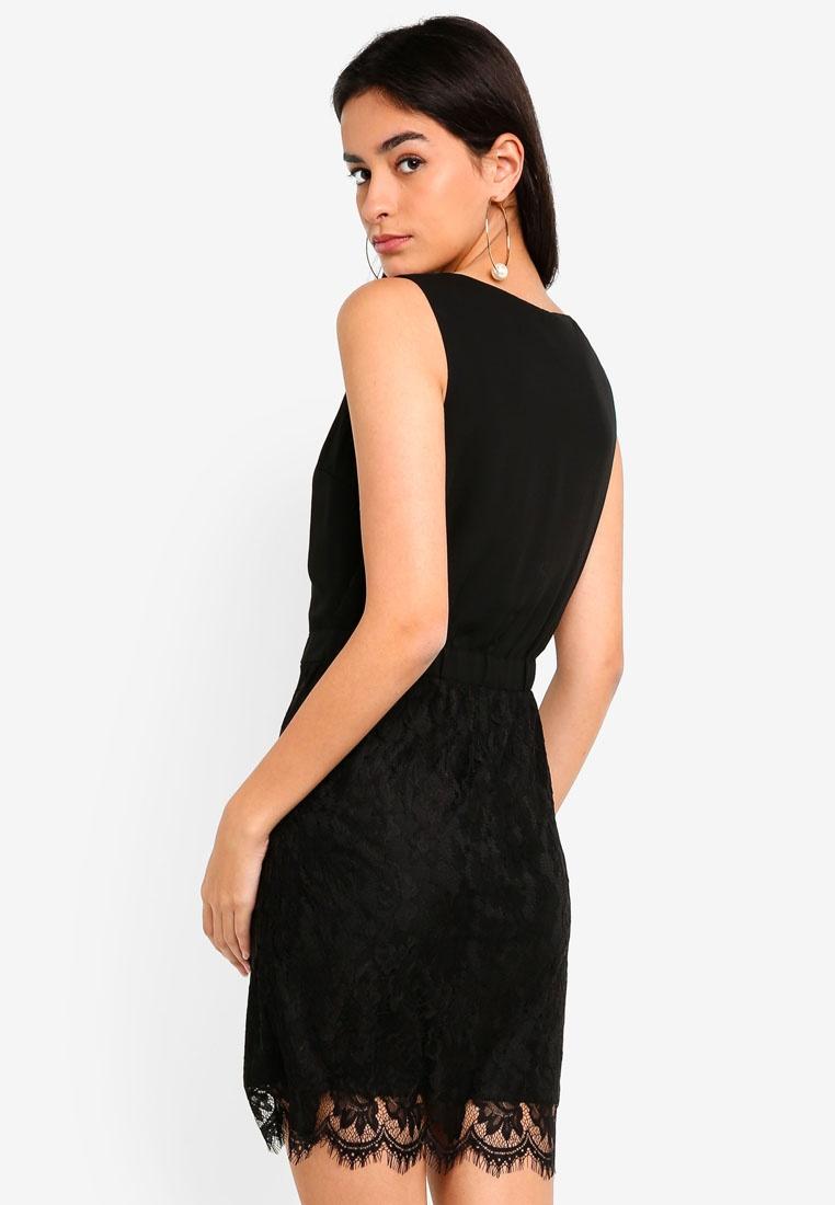 Black Short Evy Lace Moda Vero Dress f4pUXxqY