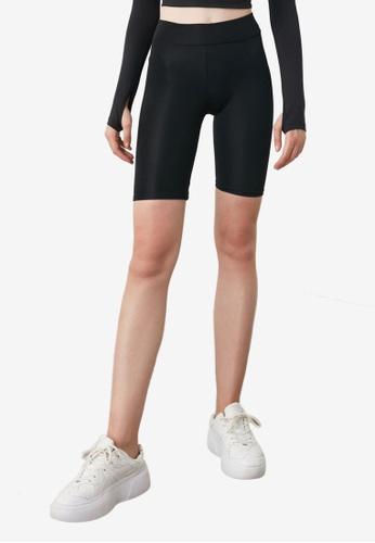 Trendyol black Black Biker Shorts 073BEAAABB0D4CGS_1