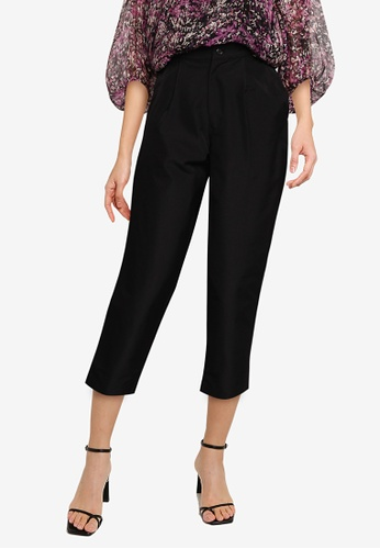 The Duo black 3/4 Ironless Pants 5DBE0AA55A76A4GS_1