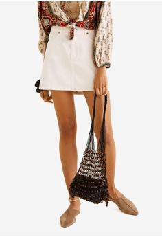 60cbe8d97 Mango white Denim Miniskirt CF0BAAA0368D8DGS_1
