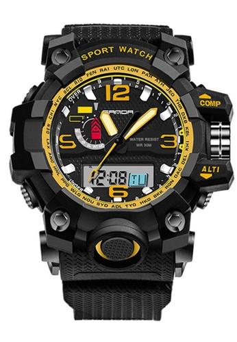 SANDA gold SANDA 732 Waterproof Outdoor Multifunctional Sports Men's Quality Shockproof Digital Watch (Gold) SA708AC0RXBYMY_1