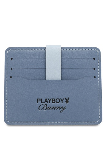 PLAYBOY BUNNY blue Women's Card Holder With Coin Compartment / Card Case 5EFCAAC469A643GS_1