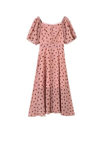 Twenty Eight Shoes pink VANSA Printed Chiffon Dress  VCW-D2386209 E1266AAAE2CAB4GS_1
