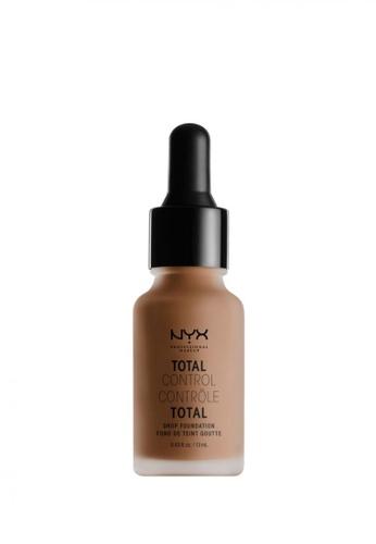 NYX Professional Makeup brown NYX Professional Makeup Total Control Drop Foundation - NUTMEG DA33CBE6B610BFGS_1