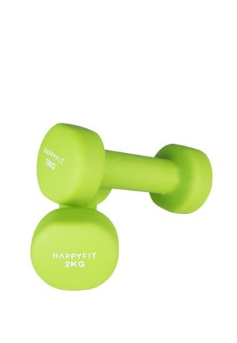 Happyfit green HAPPYFIT DUMBBELL NEOPRENE 2KG (2PCS) - GREEN D0444AC200DDA3GS_1