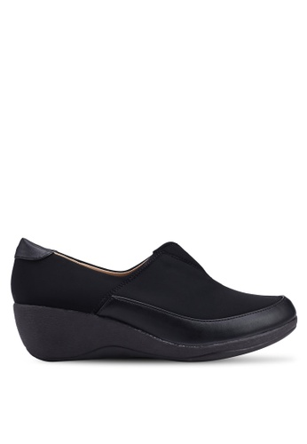 Louis Cuppers 黑色 質感楔型鞋 48A6FSHB2CBF68GS_1