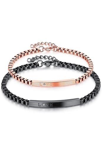 Trendyshop black and gold Couple Bracelets Set 997ABACD53E543GS_1