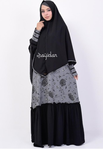 ZAYIDAN black Queenza Gamis Set Wanita Muslimah Syar'i By Zayidan Aisyah - Hitam 8F61AAA14624DDGS_1