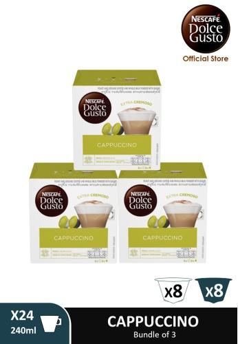 NESCAFE Dolce Gusto [3 Boxes] NESCAFE Dolce Gusto Cappuccino Milk Coffee Capsules (16 servings Per Box) 75D21ES995FF29GS_1